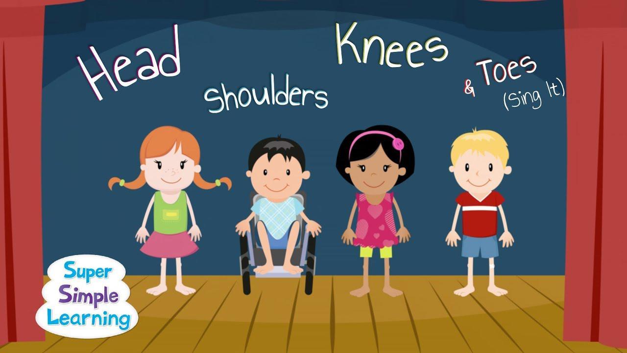 الرأس والكتفين والركبة وأصابع القدم (غناءها) بدون موسيقى | Head Shoulders Knees & Toes (Sing It) No Music