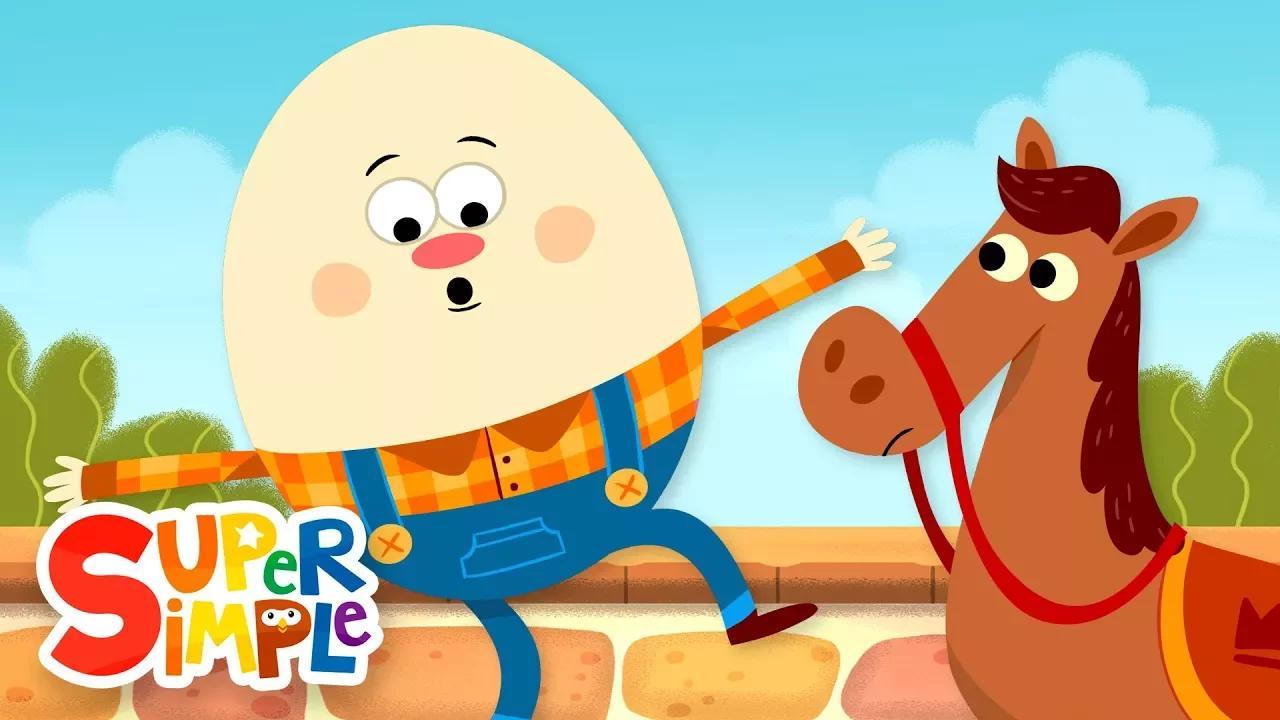 هامبتي دمبتي | أغاني الاطفال | أغاني سوبر بسيطة بدون موسيقى | Humpty Dumpty | Kids Songs | Super Simple Songs No Music