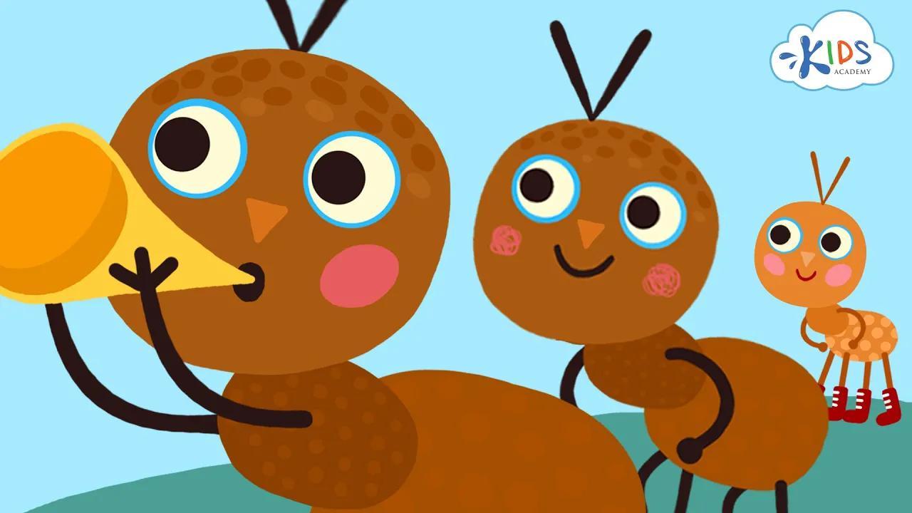 The Ants Go Marching - أغنية للأطفال مع كلمات - رسوم متحركة متحركة | أكاديمية الأطفال بدون موسيقى | The Ants Go Marching - Children's Song with Lyrics - Animated Cartoon | Kids Academy No Music