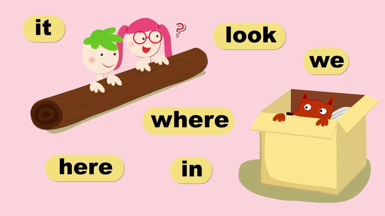 8 Sight Words| Level 1B| Lesson #6/32 A Fox In a Box| Lyrics |3分鐘學會常見詞| 高飛英語| |Full version |玩轉英語常見詞 بدون موسيقى | 8 Sight Words| Level 1B| Lesson #6/32 A Fox In a Box| Lyrics |Learn common words in 3 minutes| Goofy English| |Full version |Fun English common words No Music