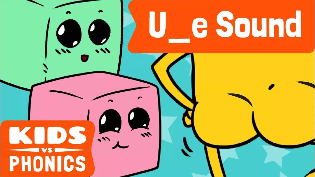 U_E | متعة الصوتيات | كيف تقرأ | ماجيك إي | صُنع بواسطة Kids vs Phonics بدون موسيقى | U_E | Fun Phonics | How to Read | Magic E | Made by Kids vs Phonics No Music