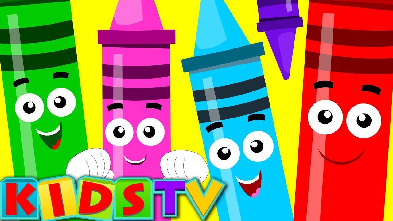 أغنية تلوين الطباشير | ألوان للأطفال | ألوان للأطفال والصغار | تلفزيون الاطفال | تعلم اللون بدون موسيقى | Crayons Color Song | Colors for Babies | Colors for Children And Toddlers | Kids TV | Learn Color No Music
