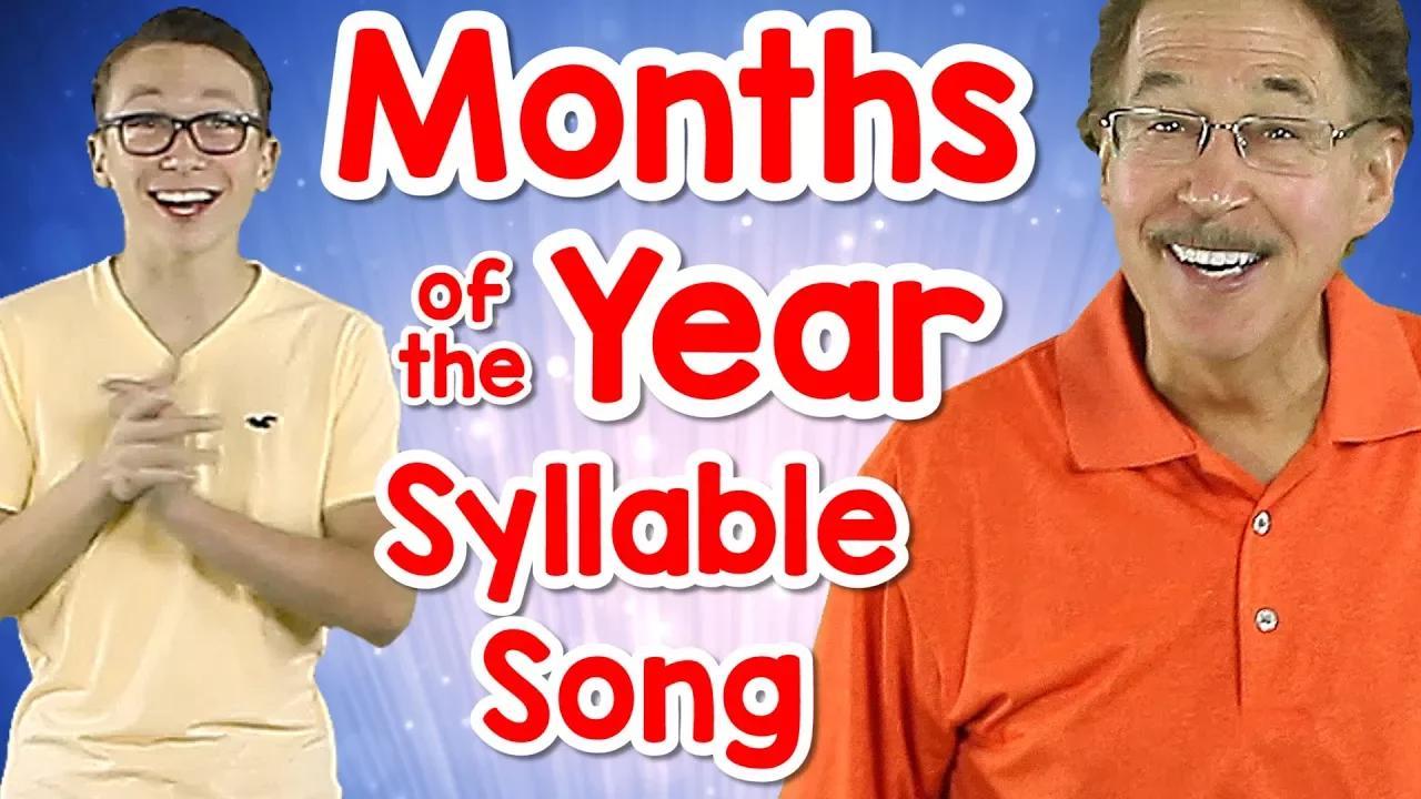 أشهر من السنة أغنية مقطع لفظي | عد المقاطع | الوعي الصوتي | جاك هارتمان بدون موسيقى | Months of the Year Syllable Song | Counting Syllables | Phonological Awareness | Jack Hartmann No Music
