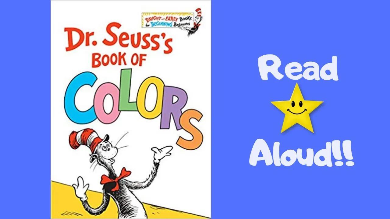 قصة - كتاب ألوان د. سوس - اقرأ الكتب للأطفال! بدون موسيقى   STORYTIME- Dr. Seuss's BOOK OF COLORS- READ ALOUD Books For Children! No Music