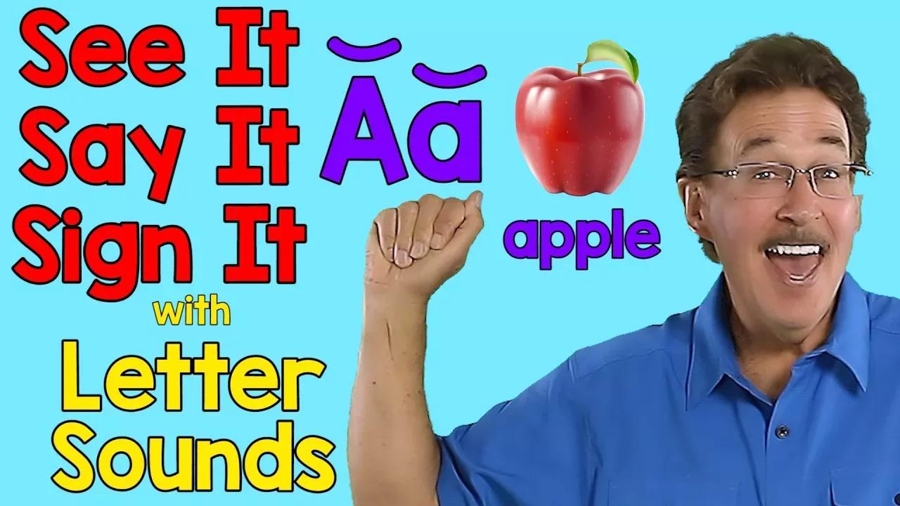 شاهدها ، قلها ، وقّع عليها | أصوات الحروف | ASL الأبجدية | جاك هارتمان بدون موسيقى | See It, Say It, Sign It | Letter Sounds | ASL Alphabet | Jack Hartmann No Music
