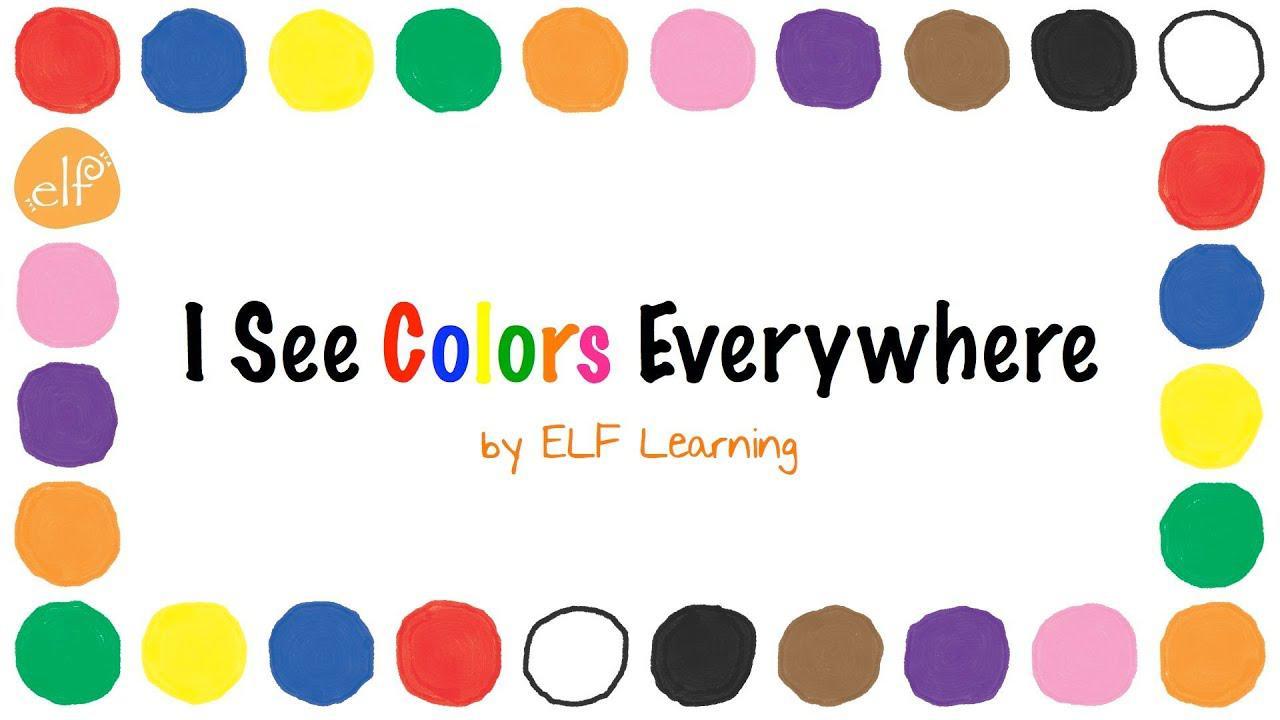 أغنية الألوان بواسطة ELF Learning - أغاني ملونة لرياض الأطفال - مقاطع فيديو ELF Kids بدون موسيقى | The Colors Song By ELF Learning -  Color Songs for Kindergarten - ELF Kids Videos No Music