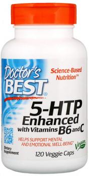 Doctor's Best 5-HTP Enhanced with Vitamins B6 & C, 120 Vegetarian Capsules