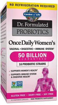Garden of Life Dr. Formulated Probiotics Once Daily Women's 50 Billion Gluten & Dairy Free, 30 Vegetarian Capsules