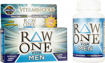 Garden of Life Vitamin Code Raw One for Men, 75 Ultra Zorbe Vegetarian Capsules