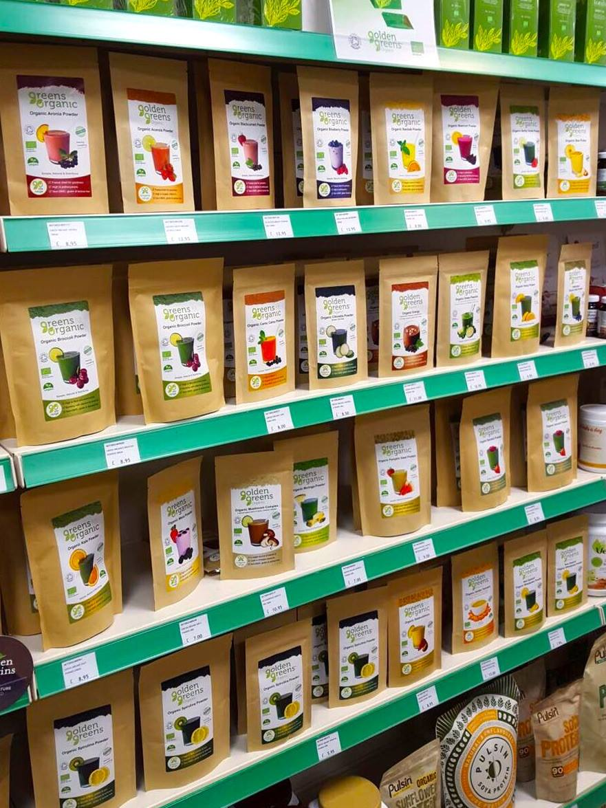 Golden Greens Products on Shelves