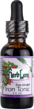 Herb Lore Iron Tonic Tincture, Non Alcohol 118 ml
