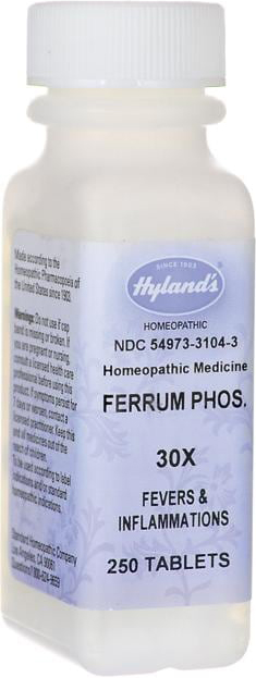 Hyland's Homoeopathic Medicine Ferrum Phos 30X 250 Tablets