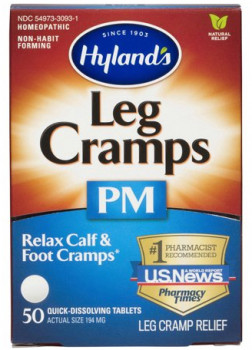 Hyland's Homoeopathic Medicine Leg Cramps PM Cramp Relief, 50 Quick-Dissolving Tablets
