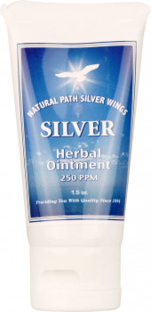 Natural Path Silver Wings Silver Herbal Ointment 250 PPM, 44 ml Tube