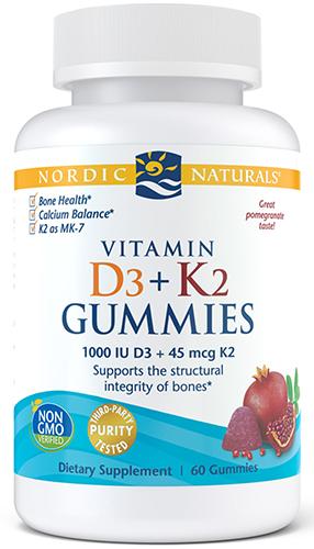 Nordic Naturals Vitamin D3 + K2 Gummies 60 Gummies