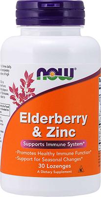 Now Foods Elderberry & Zinc, 30 Lozenges