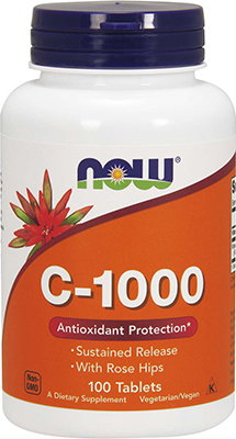 Now Foods Vitamin C-1000, 100 Tablets