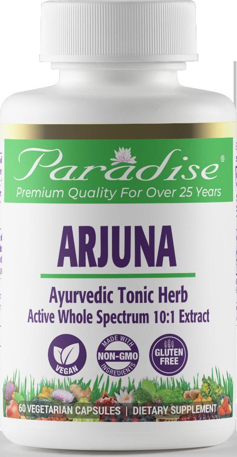 Paradise Herbs Arjuna, 60 Vegetarian Capsules