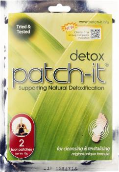 Detox Patch-It Support Natural Detoxification 2 Foot Patches