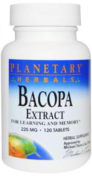 Planetary Herbals Bacopa Extract 225mg 120 Tablets