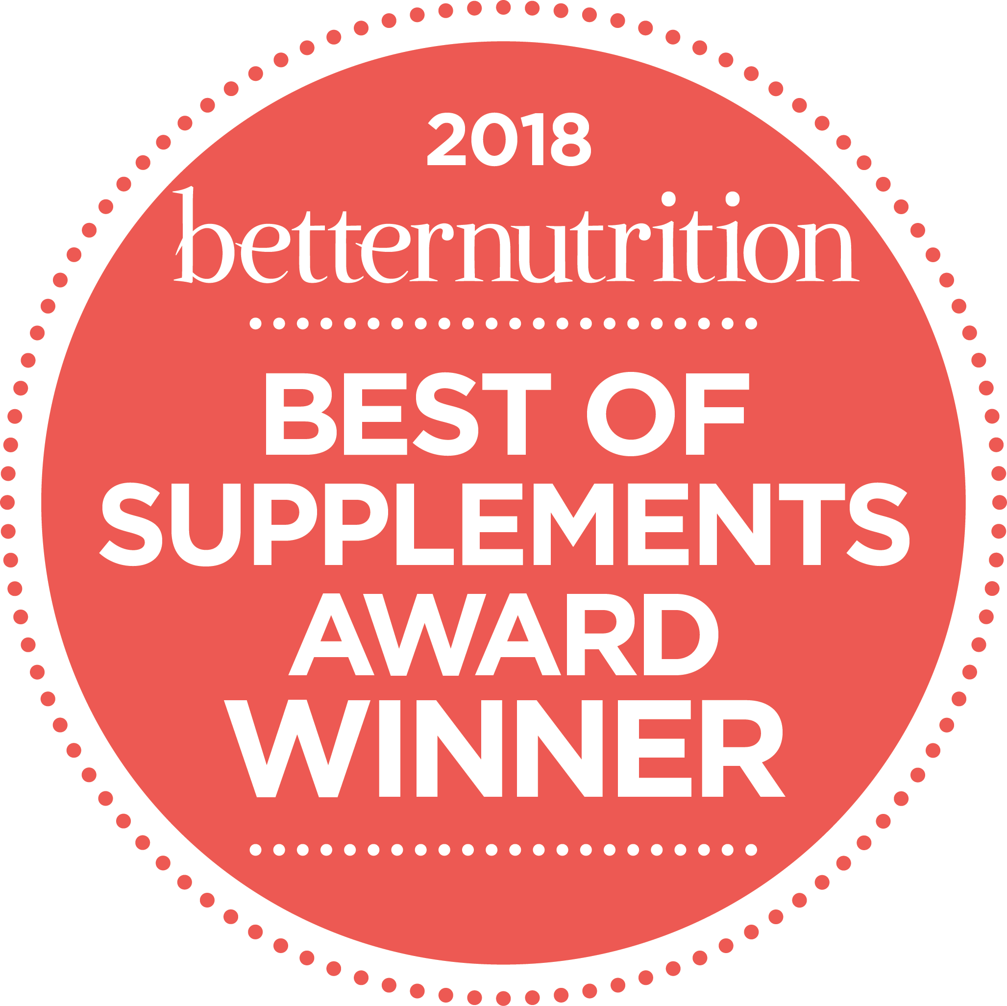 BetterNutrition Best Supplement 2018 Winner Logo