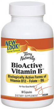 Terry Naturally Bio Active Vitamin B, 60 Vegan Capsules