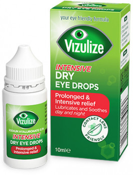 Vizulize Intensive Dry Eye Drops, Prolonged and Intensive relief, 10 ml