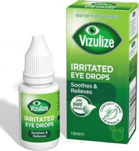Vizulize Irritated Eye Drops, Soothes & Relieves with Natural Plant Extracts, 10ml