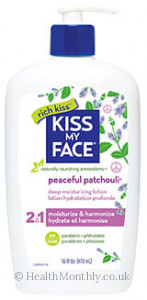 Kiss My Face Peaceful Patchouli 2 in 1 Deep Moisturising Lotion