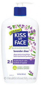 Kiss My Face Lavender Shea 2 in 1 Deep Moisturising Lotion