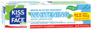 Kiss My Face Anti-Cavity Fluoride Whitening Toothpaste