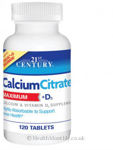 21st Century Calcium Citrate Plus D3 Maximum