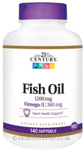 21st Century Fish Oil, 360 mg Omega-3, Heart Health Support