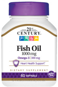 21st Century Fish Oil, 300 mg Omega-3, Heart Health Support