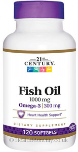 21st Century Fish Oil, 300 mg Omega-3