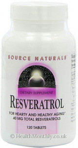 Source Naturals Resveratrol Classic Label