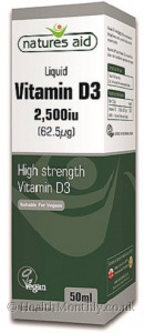 Natures Aid Vitamin D3 Liquid