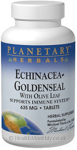 Planetary Herbals Echinacea-Goldenseal With Olive Leaf