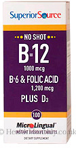 Superior Source No Shot B12, B6 & Folic Acid Plus Vitamin D3