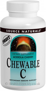 Source Naturals Acerola Cherry Chewable C