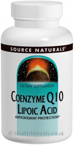 Source Naturals Coenzyme Q10 Lipoic Acid