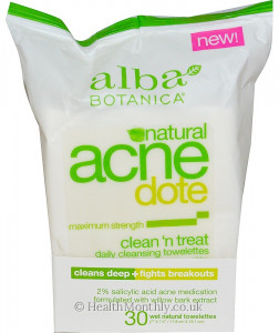 Alba Botanica Natural Acnedote Cleansing Towelettes