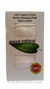 Amour Natural 100% Organic Cotton Muslin Cleansing Cloth