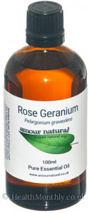 Amour Natural Rose Geranium Pure Essential Oil