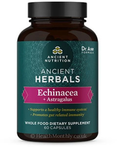 Ancient Nutrition, Ancient Herbals, Echinacea + Astragalus