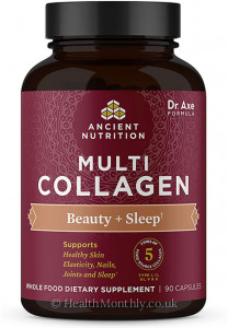 Ancient Nutrition Multi Collagen, Beauty + Sleep, Healthy Skin Elasticity, Nails & Joints