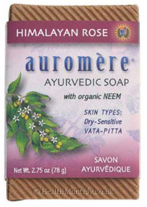 Auromere Ayurvedic Himalayan Rose with Organic Neem Soap Bar