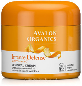 Avalon Organics Intense Defense with Vitamin C, Renewal Cream