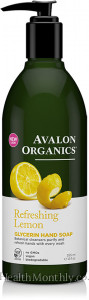 Avalon Organics Refreshing Lemon Glycerin Liquid Hand Soap