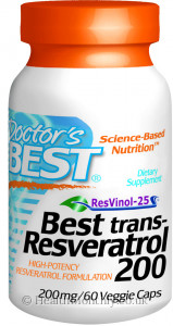 Doctor's Best Trans-Resveratrol 200 with Resvinol-25
